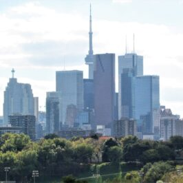 View of downtown Toronto from Riverdale